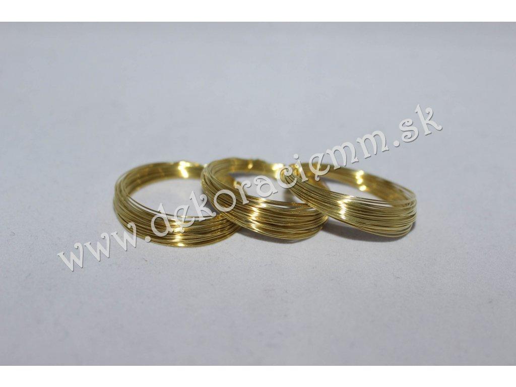 Drôtik dekoračný MOSADZNÝ - zlatý (návin cca 5m), Ø 0,4mm