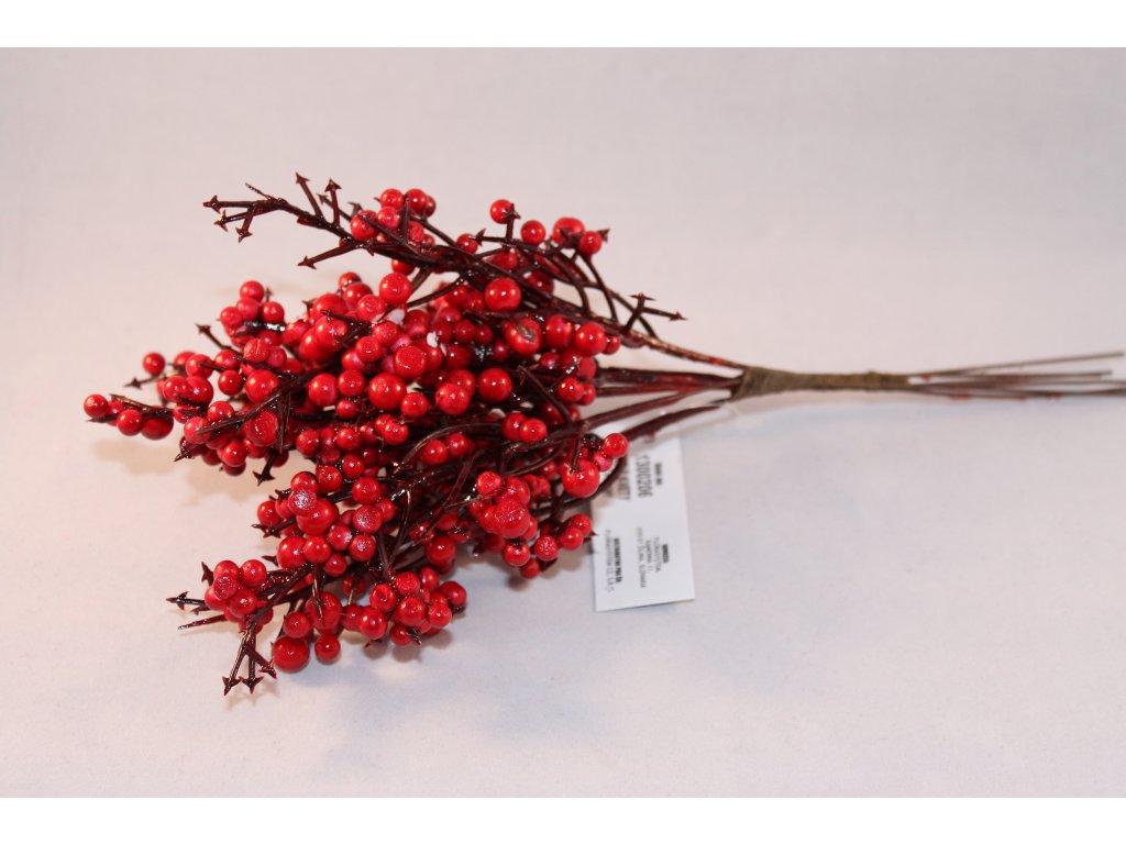 Konárik červené bobuľky 25cm