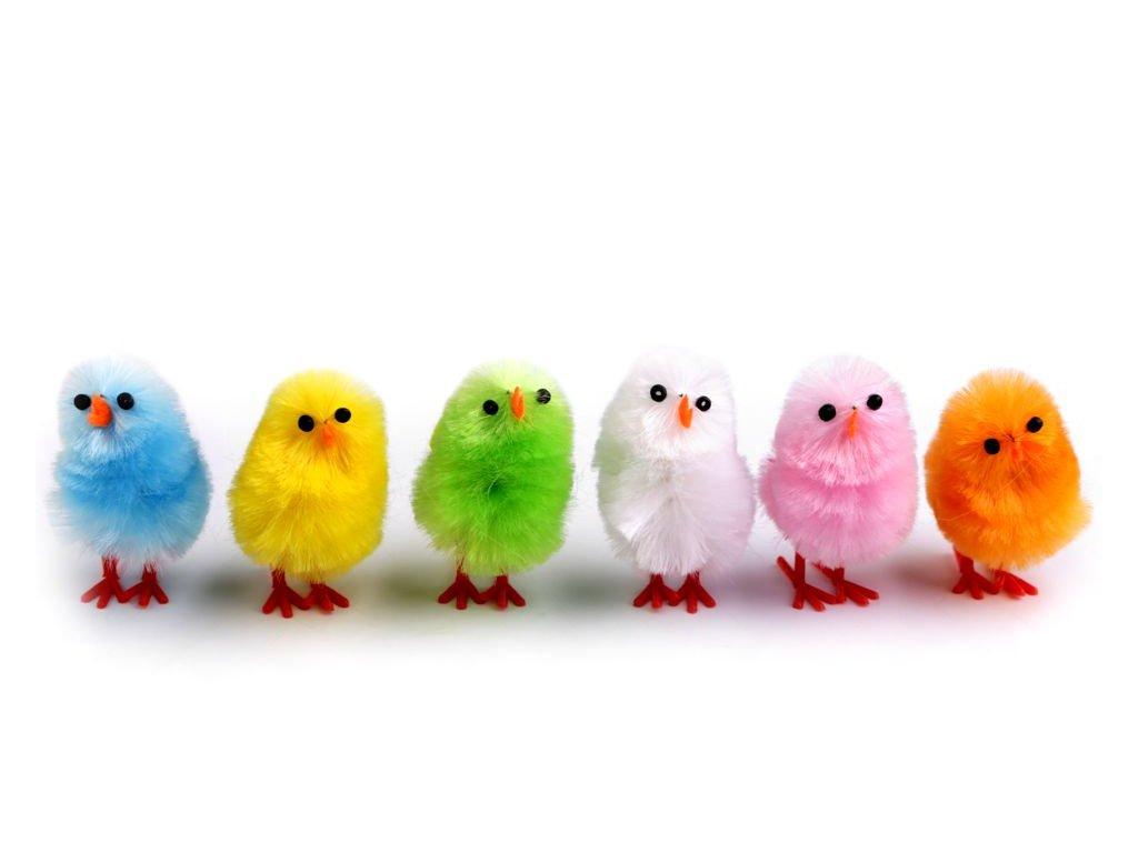 Veľkonočná dekorácia kurča 2,5x4 cm - rôzne farby