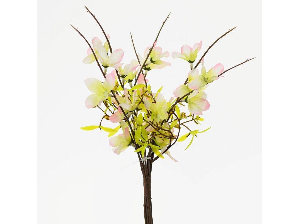 Vetvička kvet bielo-ružový 25cm