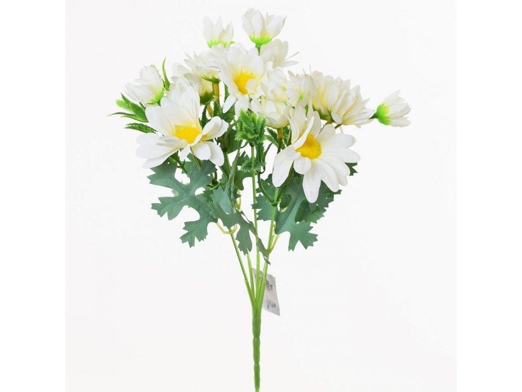 Kytica biele margarétky 30cm
