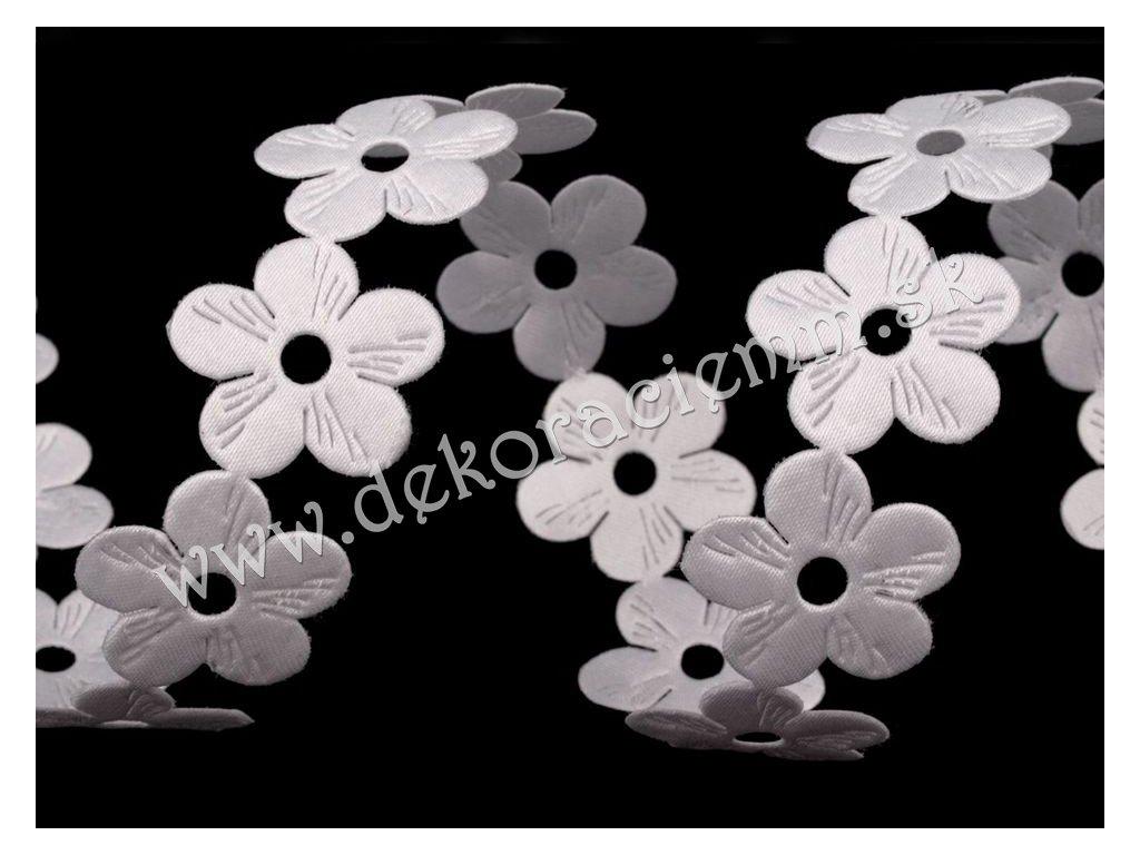 Saténový prámik šírka 22 mm kvety