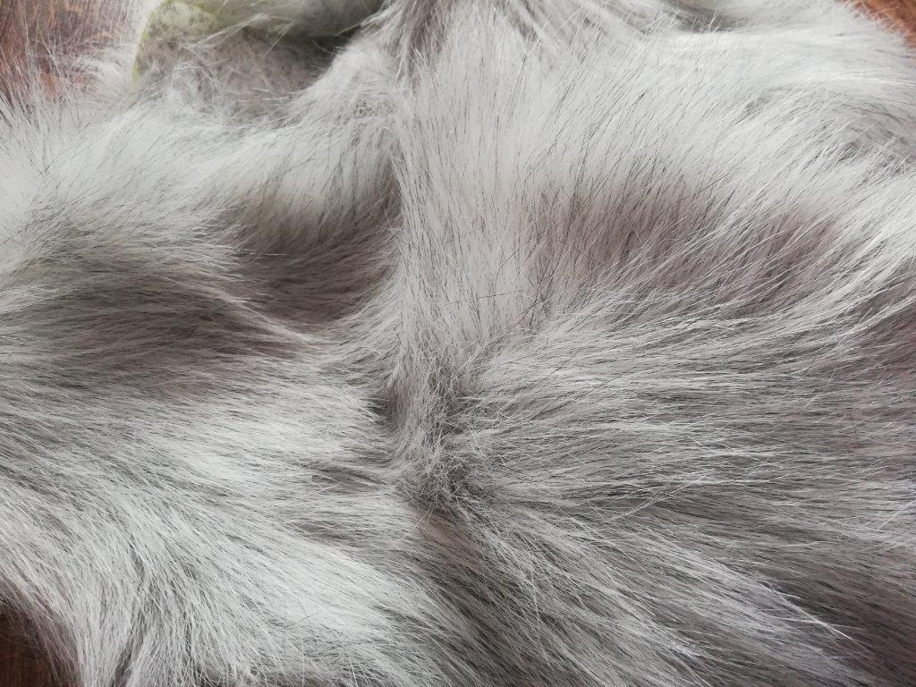 Umelá kožušina long bielo-čierna návin 1,8m