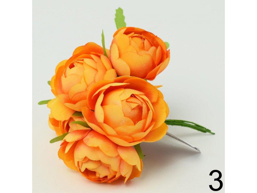 Umelé kvety na drôtiku zv.6ks