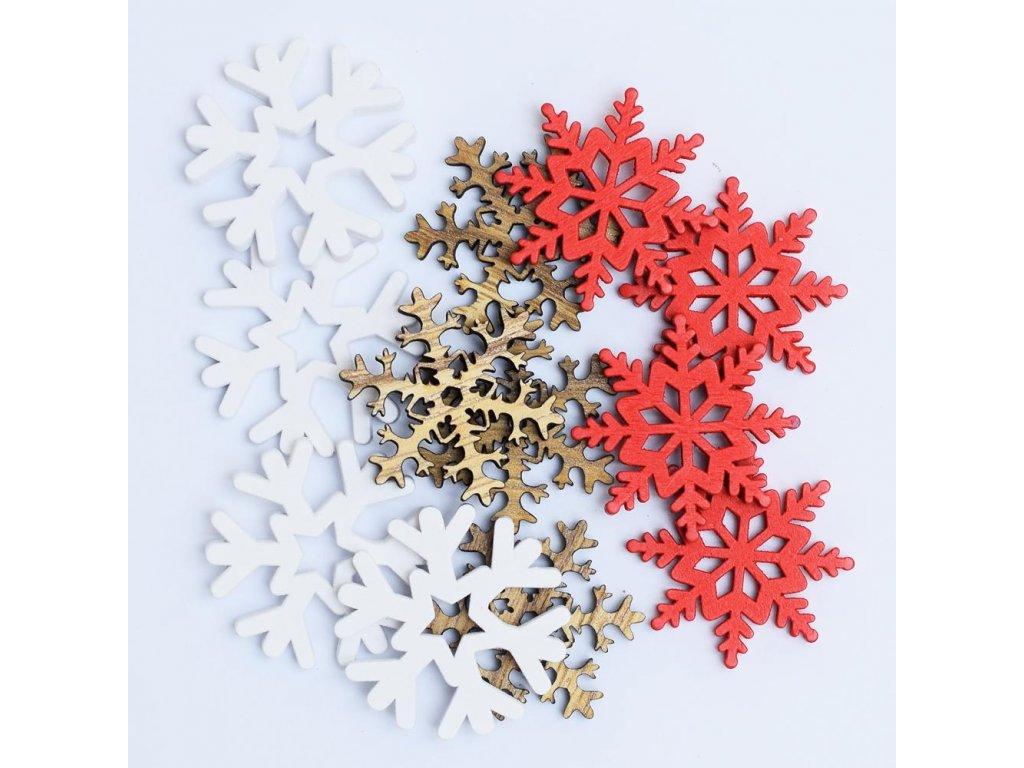 Snehové vločky mix farieb 12ks