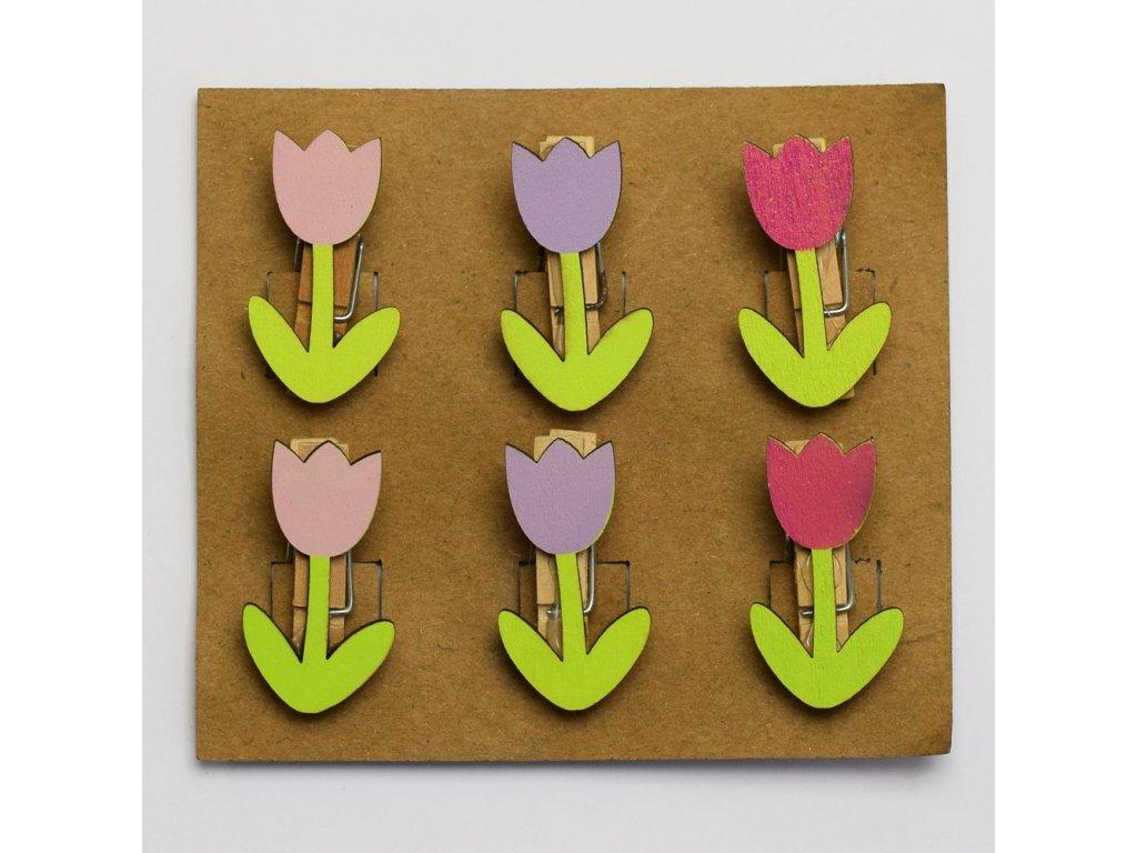 Tulipán na štipci 3,5x1,5cm (3ks)