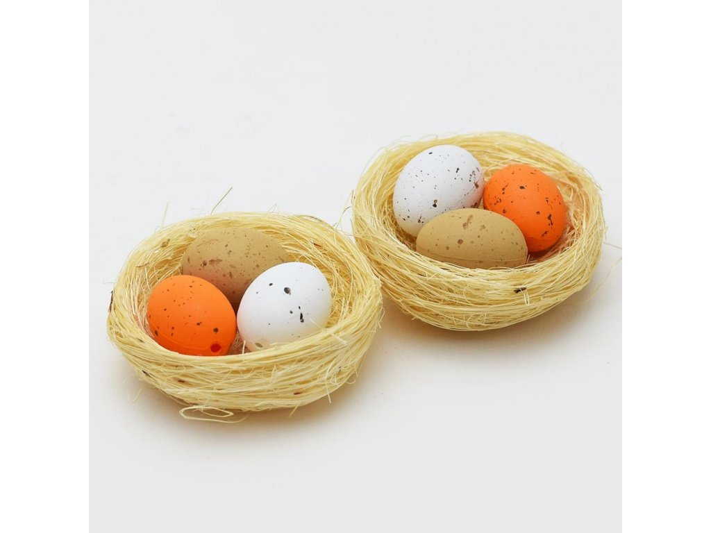 Vajíčka v hniezde 5,5cm MIX farba