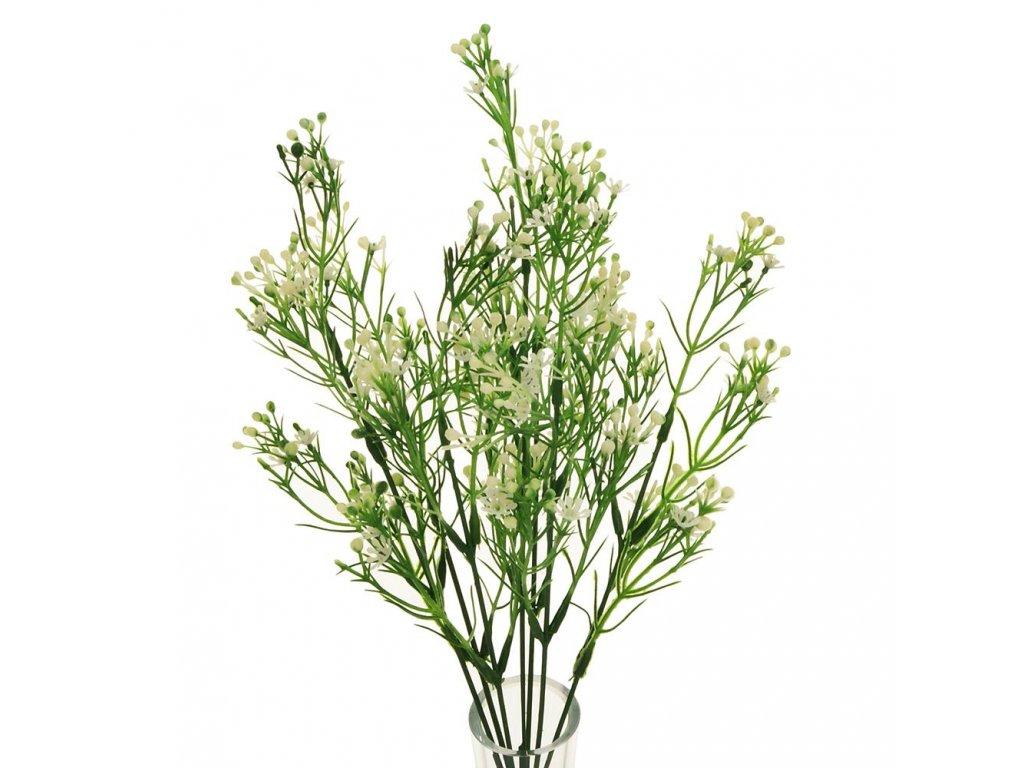 Zápich biely kvietok a bobuľky 25cm