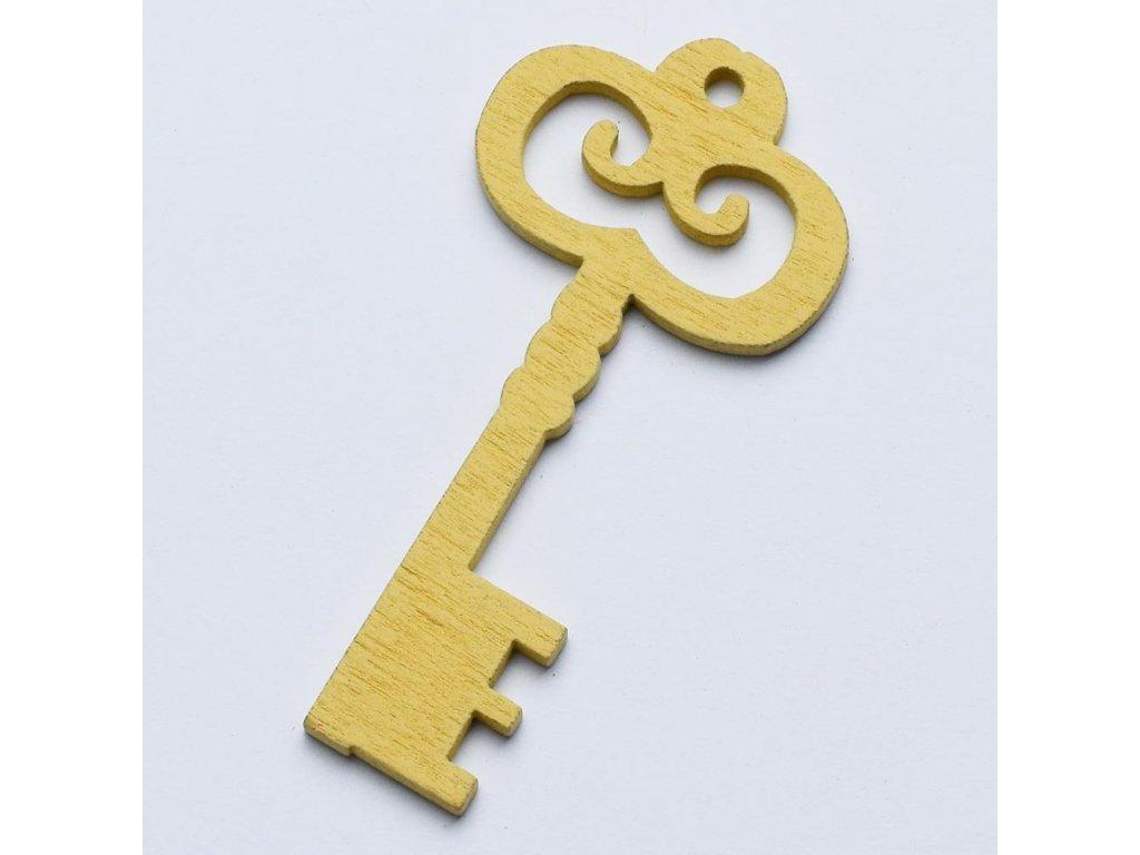 Drevený výrez kľúč 6cm
