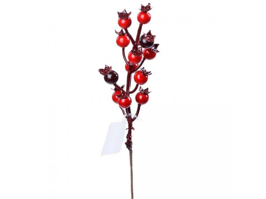 Vetvička šípky červeno/bordové 19cm