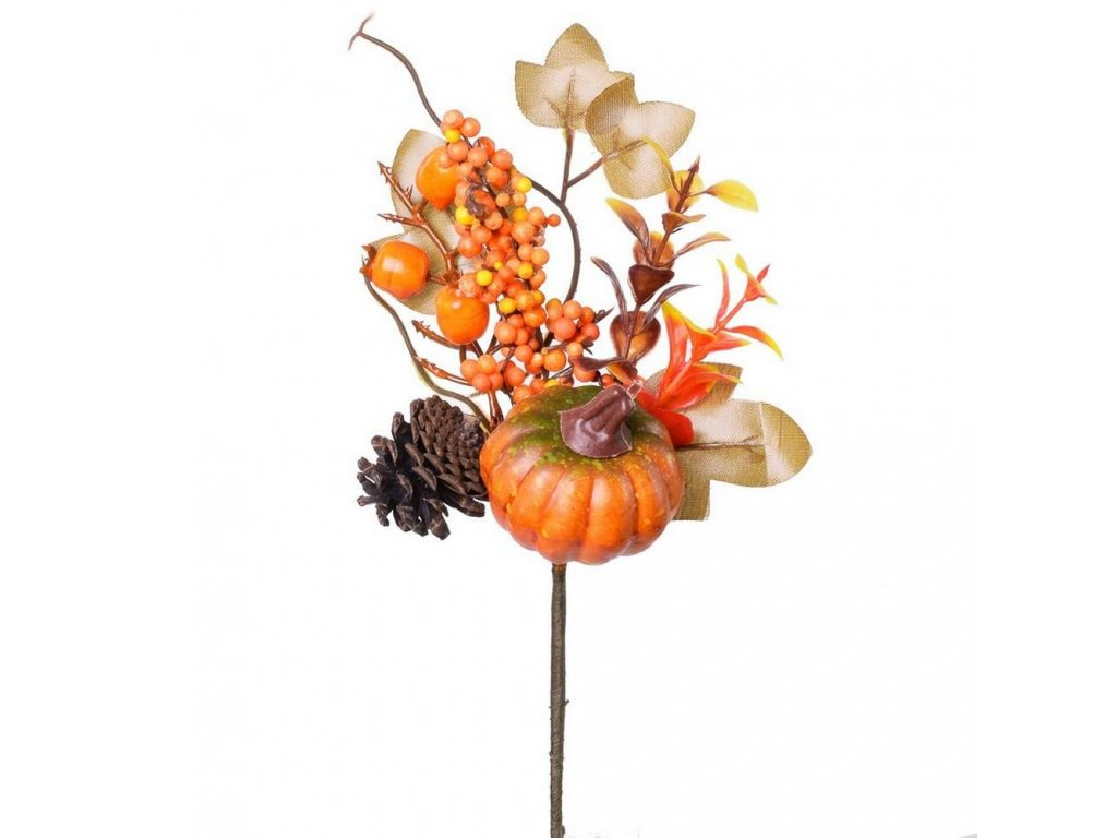 Jesenná vetvička s tekvicou 27cm