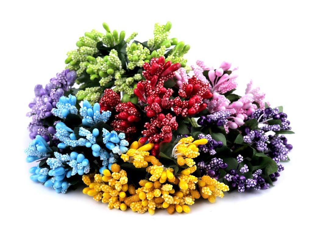 Tyčinky do kvetín so zeleným lístkom