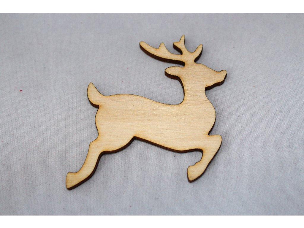 Drevená dekorácia JELEŇ 6cm