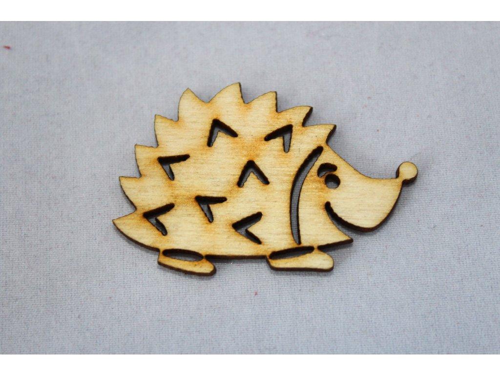 Drevená dekorácia JEŽKO 5cm