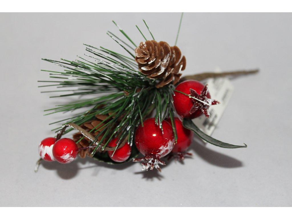 Vianočná vetvička s drôtikom 16cm