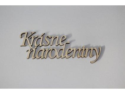 Drevený nápis KRÁSNE NARODENINY 9,5cm