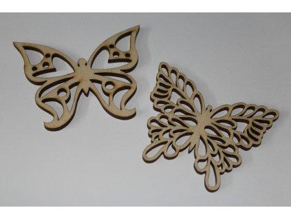 Drevené motýliky s výrezom 5cm