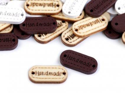 Drevená ceduľka / ozdoba Handmade 11x23 mm
