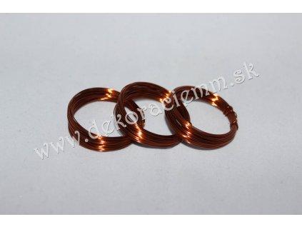 Drôtik dekoračný MEDENÝ (návin cca 5m), Ø 0,4mm