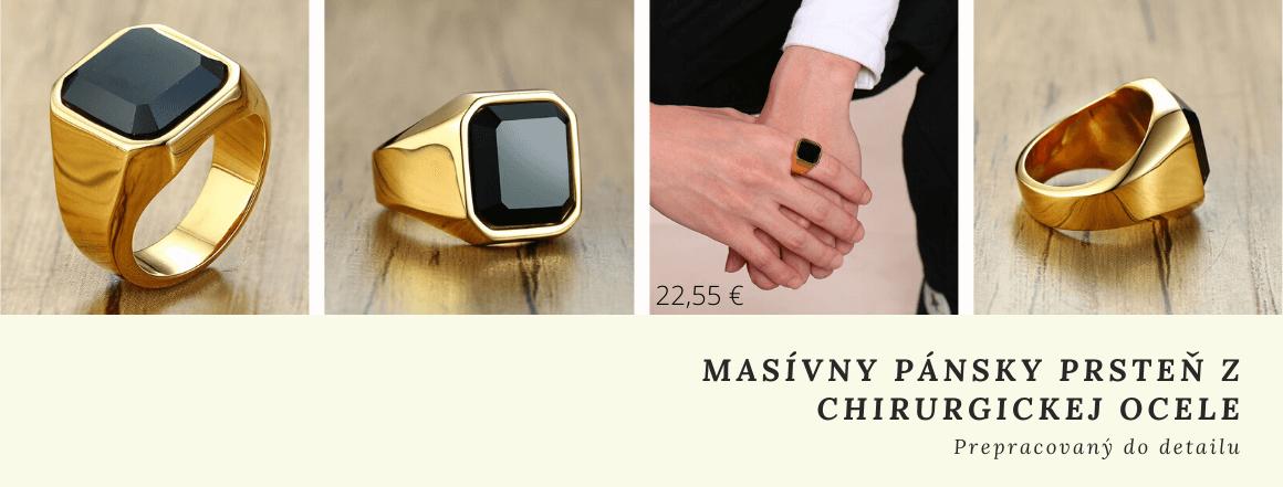Masívny prsteň z chirurgickej ocele
