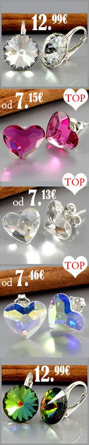 Náušnice v originálnom prevedení so Swarovski crystals