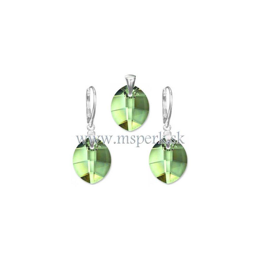 Exkluzívny set SWI crystal svetlo zelená farba