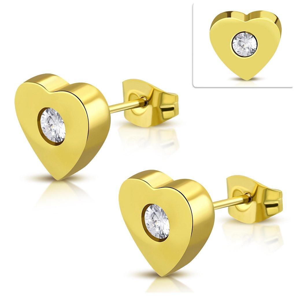 3e4d81687 Napichovacie náušnice v tvare srdca so zirkónom - mŠperk.sk