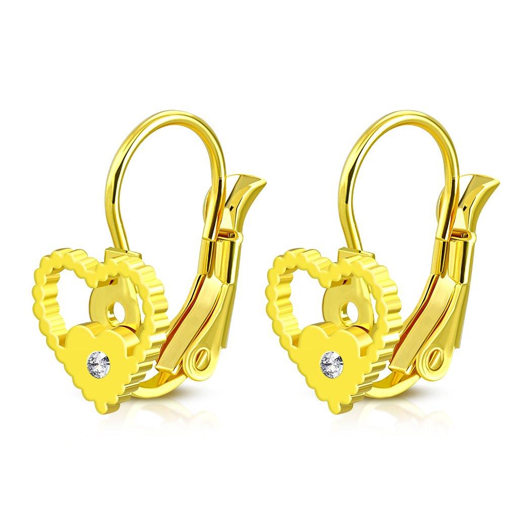 d8fda1eb9 Náušnice v tvare srdca so zirkónom - mŠperk.sk