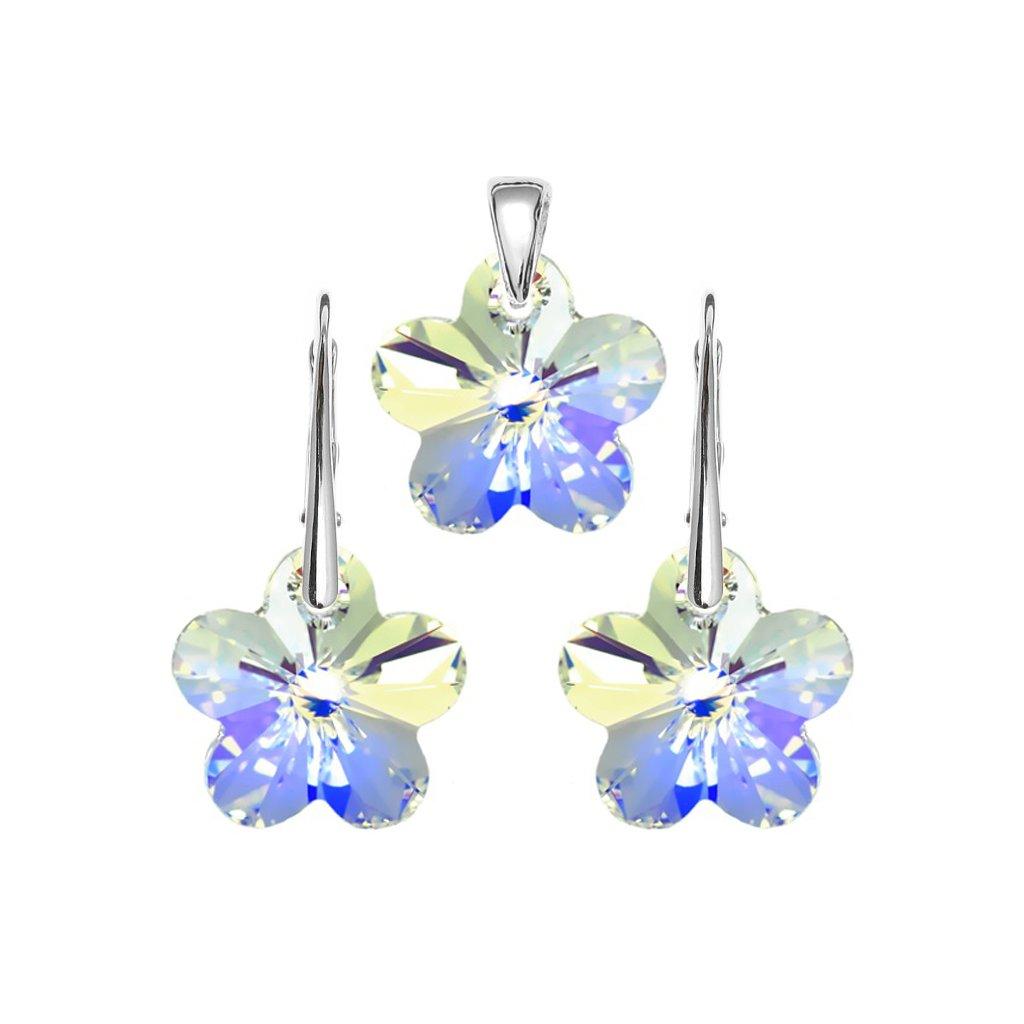 Súprava kvety so Swarovski Crystals 18mm flower