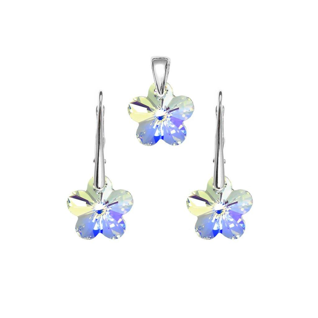 Súprava kvety so Swarovski Crystals 12 mm flower