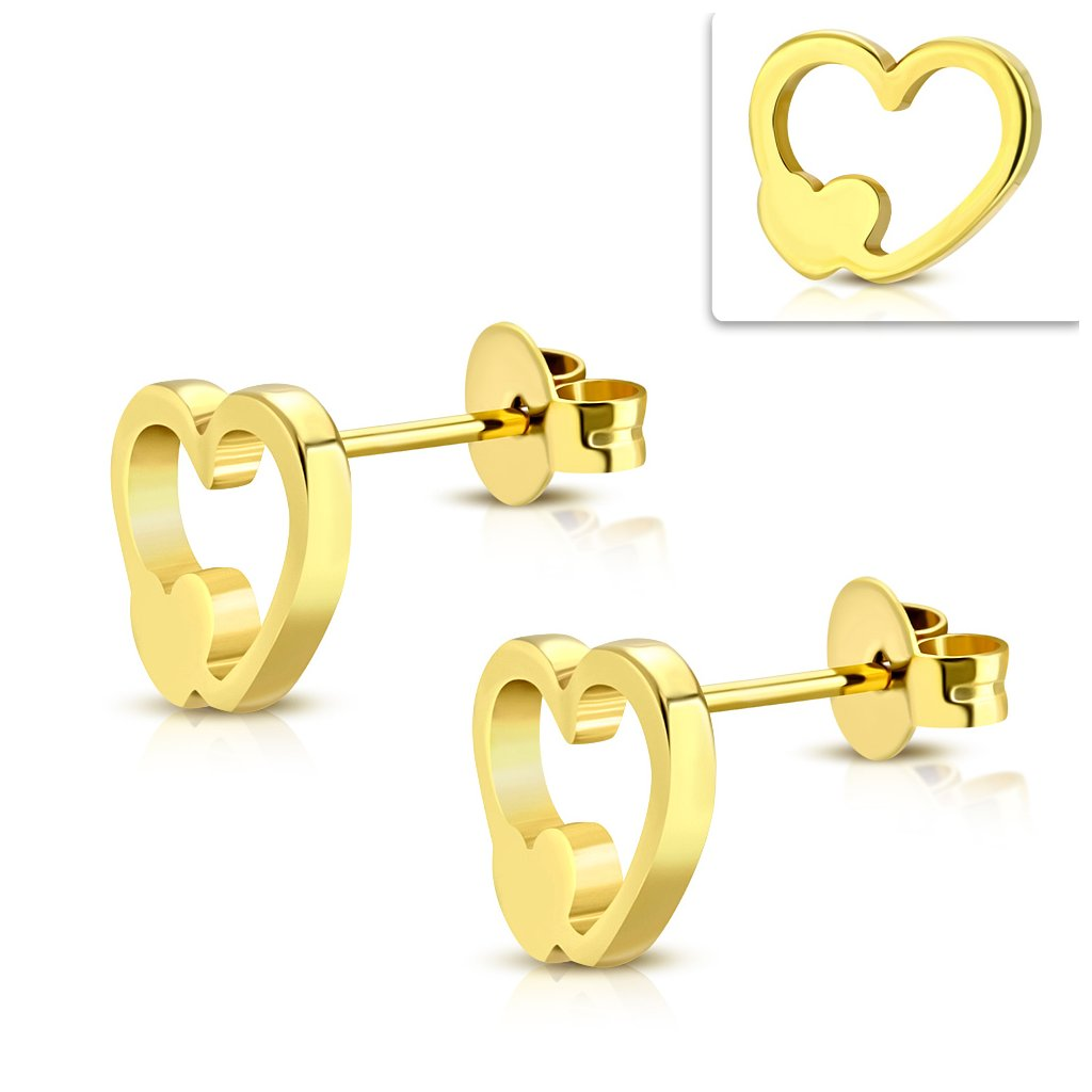 42594a778 Náušnice v tvare srdca - mŠperk.sk