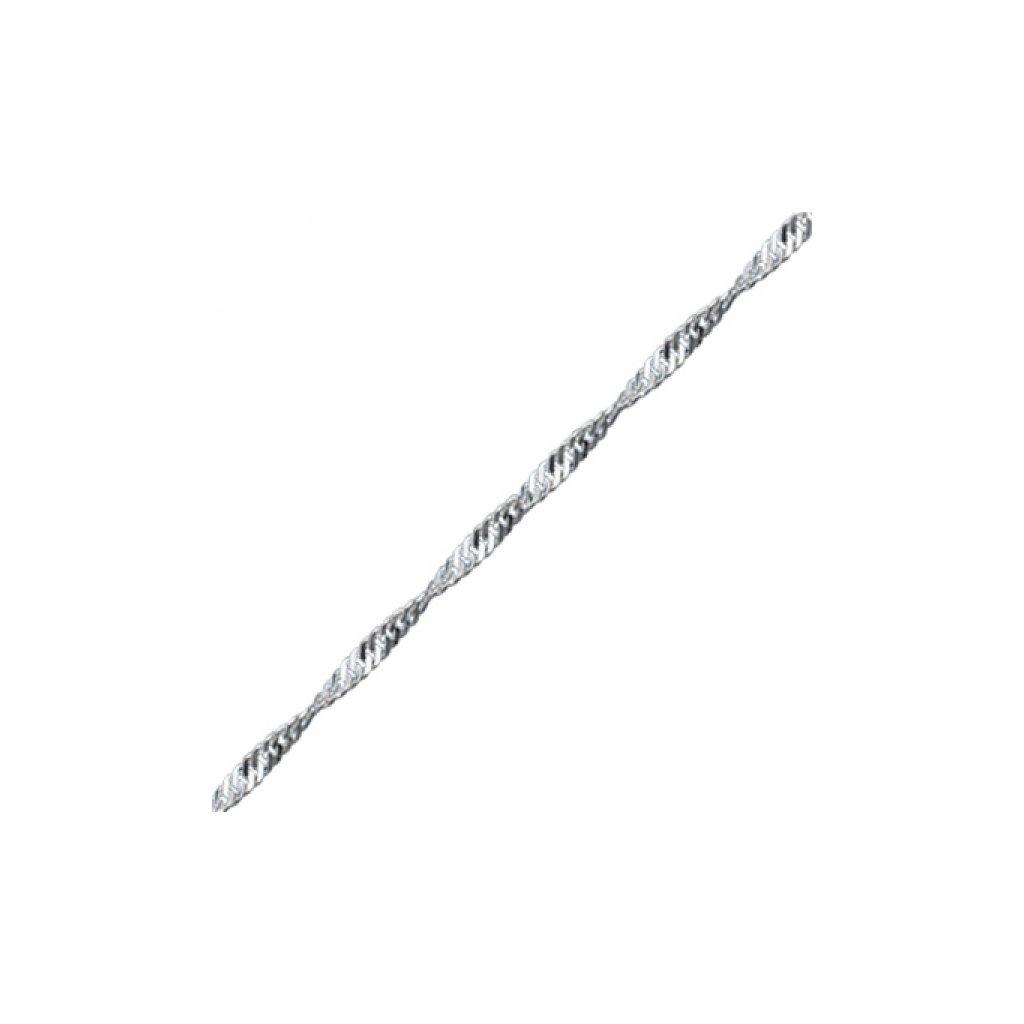 Strieborná retiazka pletená 60 cm