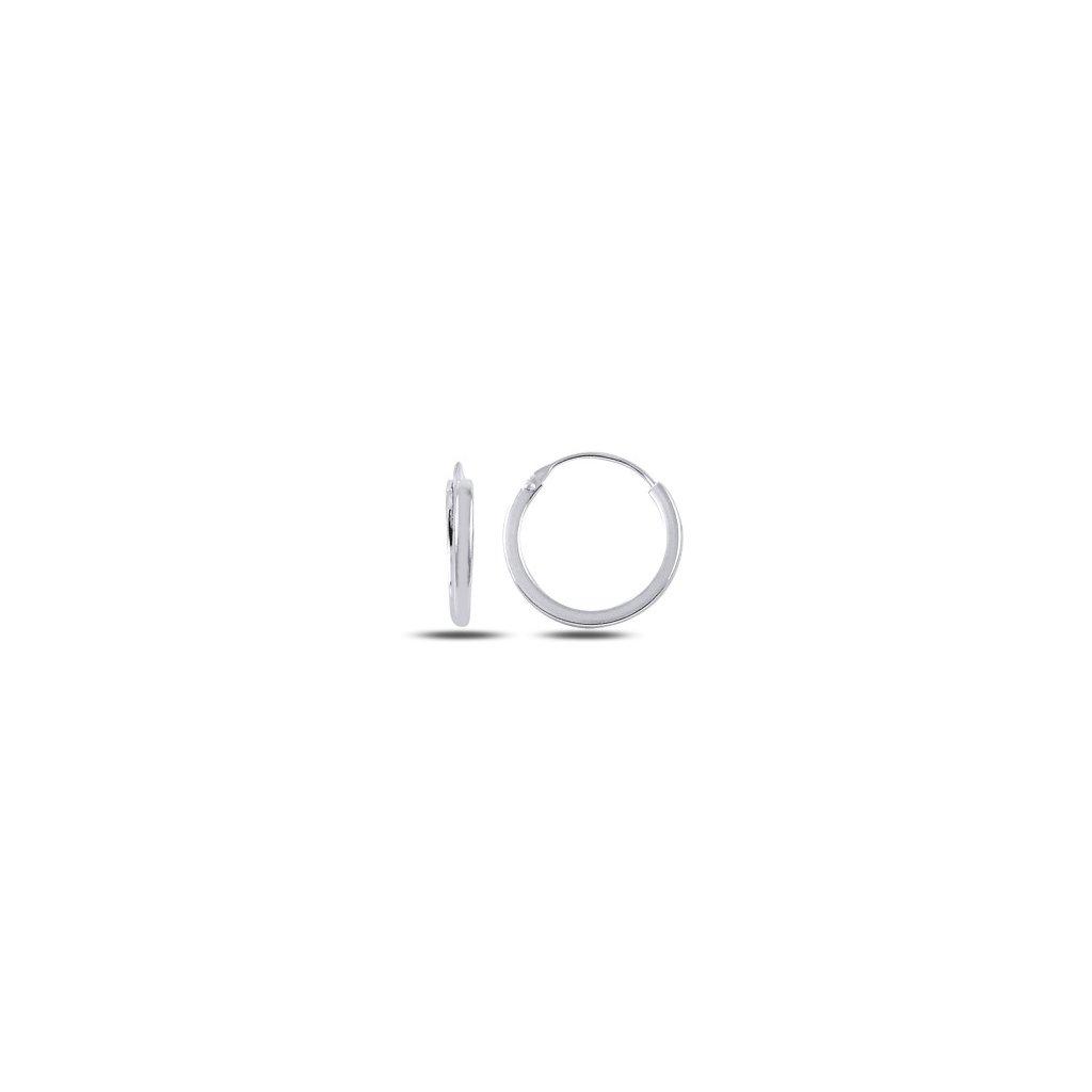 Strieborné náušnice kruhy 14 mm