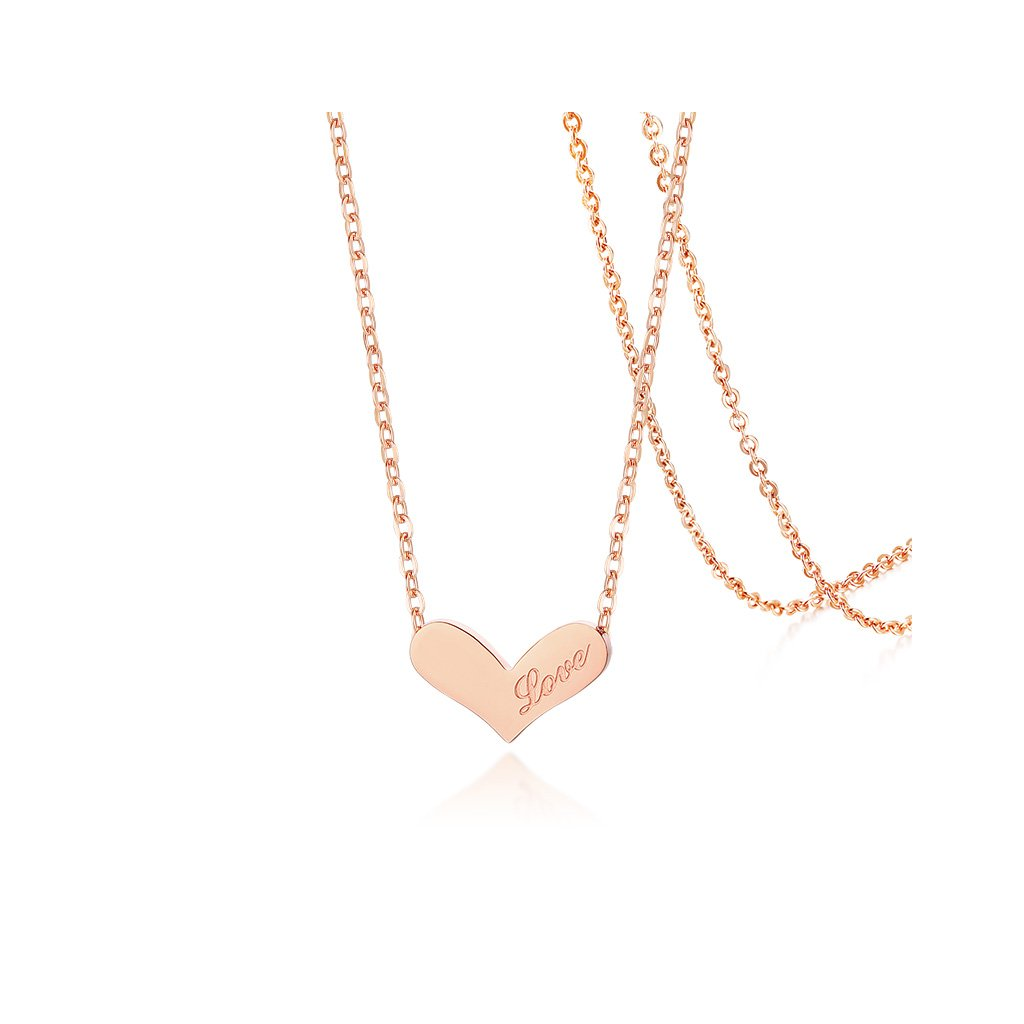 Dámsky náhrdelník srdce love