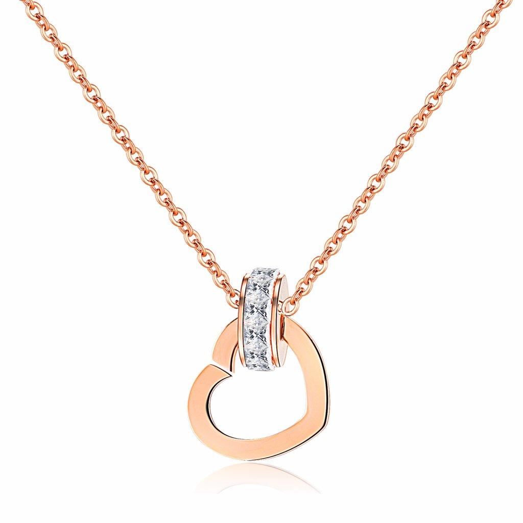 Dámsky náhrdelník srdiečko so zirkónmi