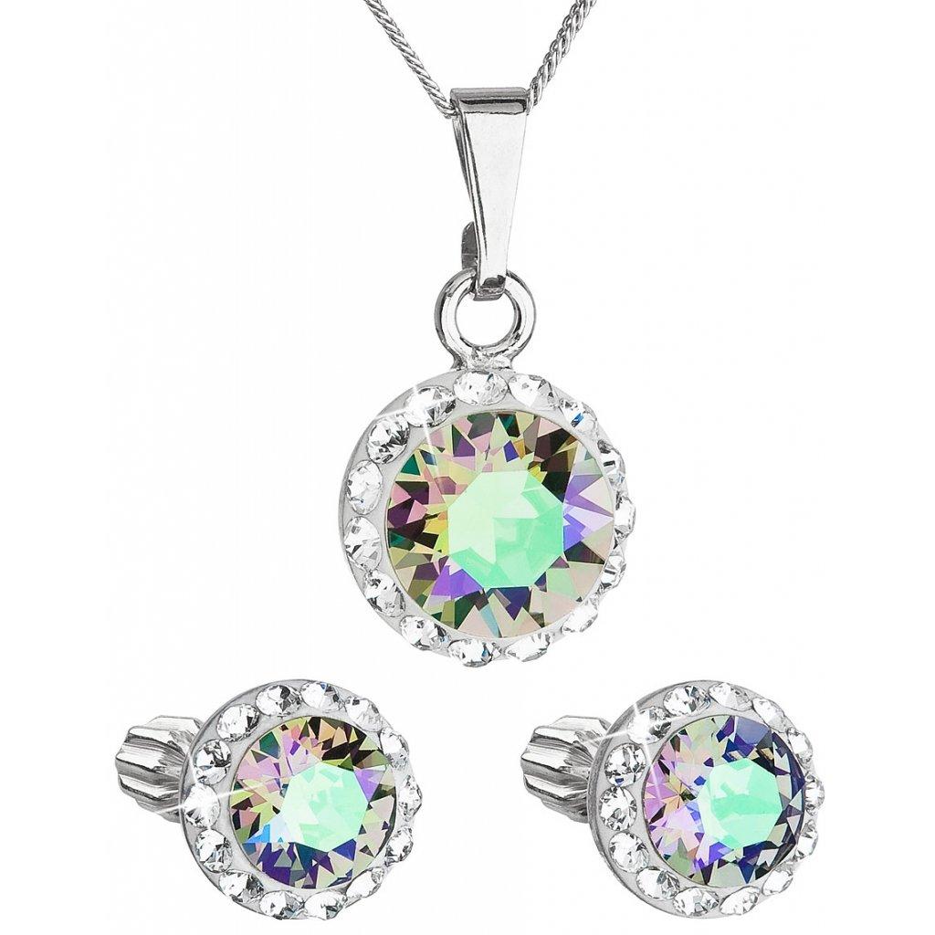 Súprava šperkov okrúhly model so Swarovski crystals - paradise shine