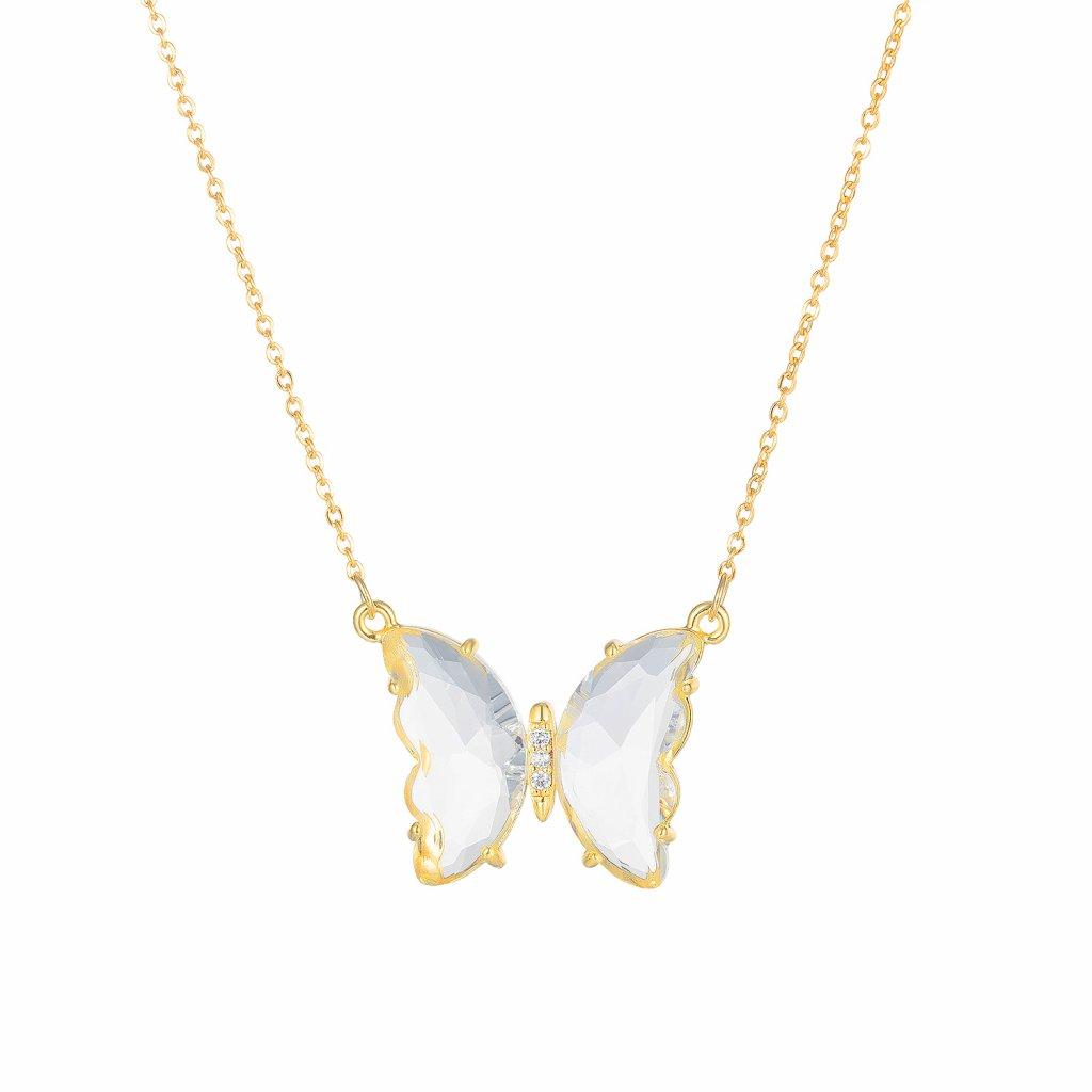 Prívesok s retiazkou motýľ biely