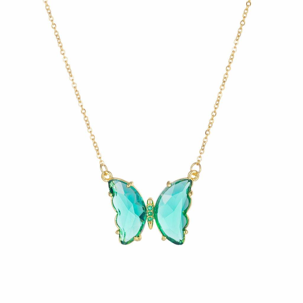 Prívesok s retiazkou motýľ zelený