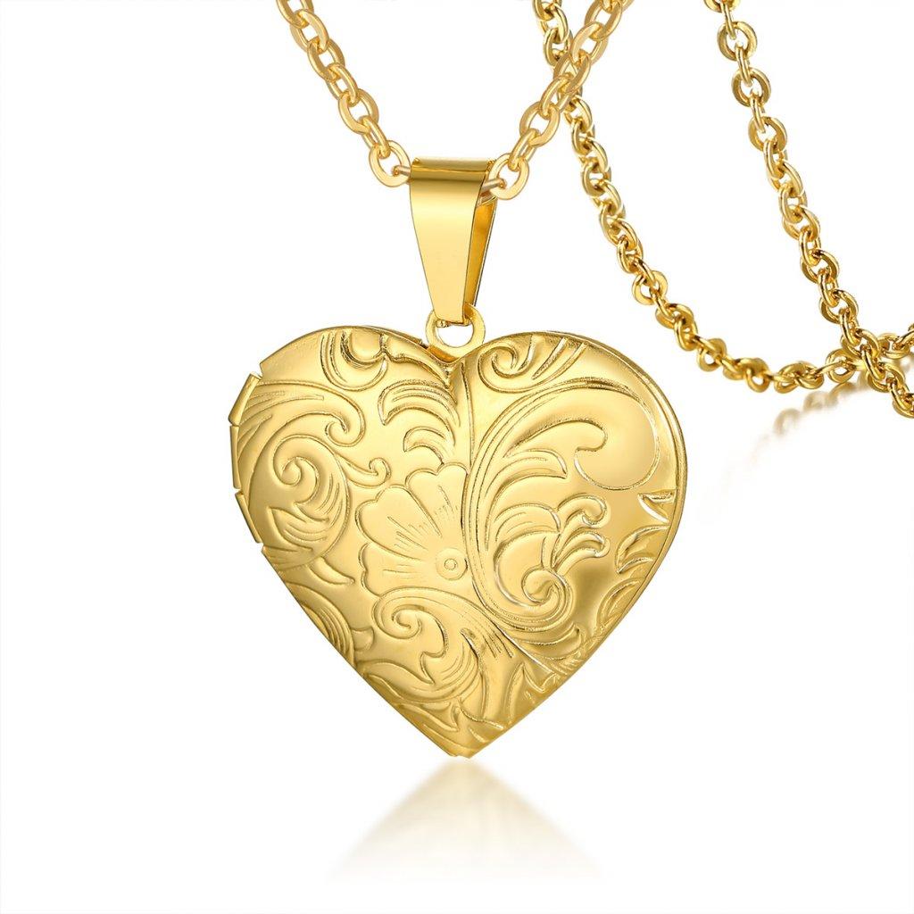 Otvárateľný prívesok srdce s retiazkou