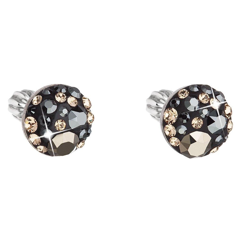 Strieborné guľaté náušnice so Swarovski Crystals - Colorado
