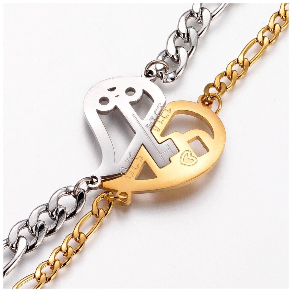 Náramky pre zaľúbených srdce a kľúč 2