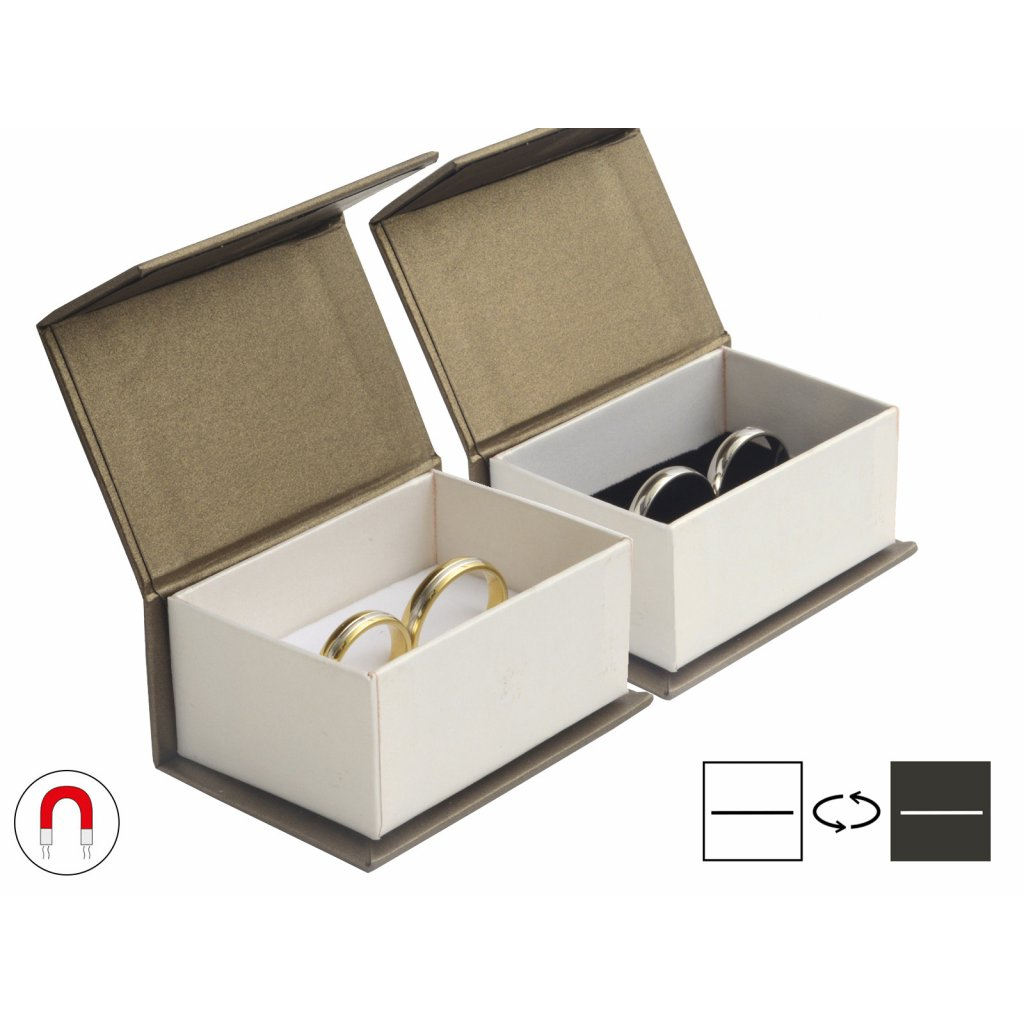 Luxusná darčeková krabička na obrúčky