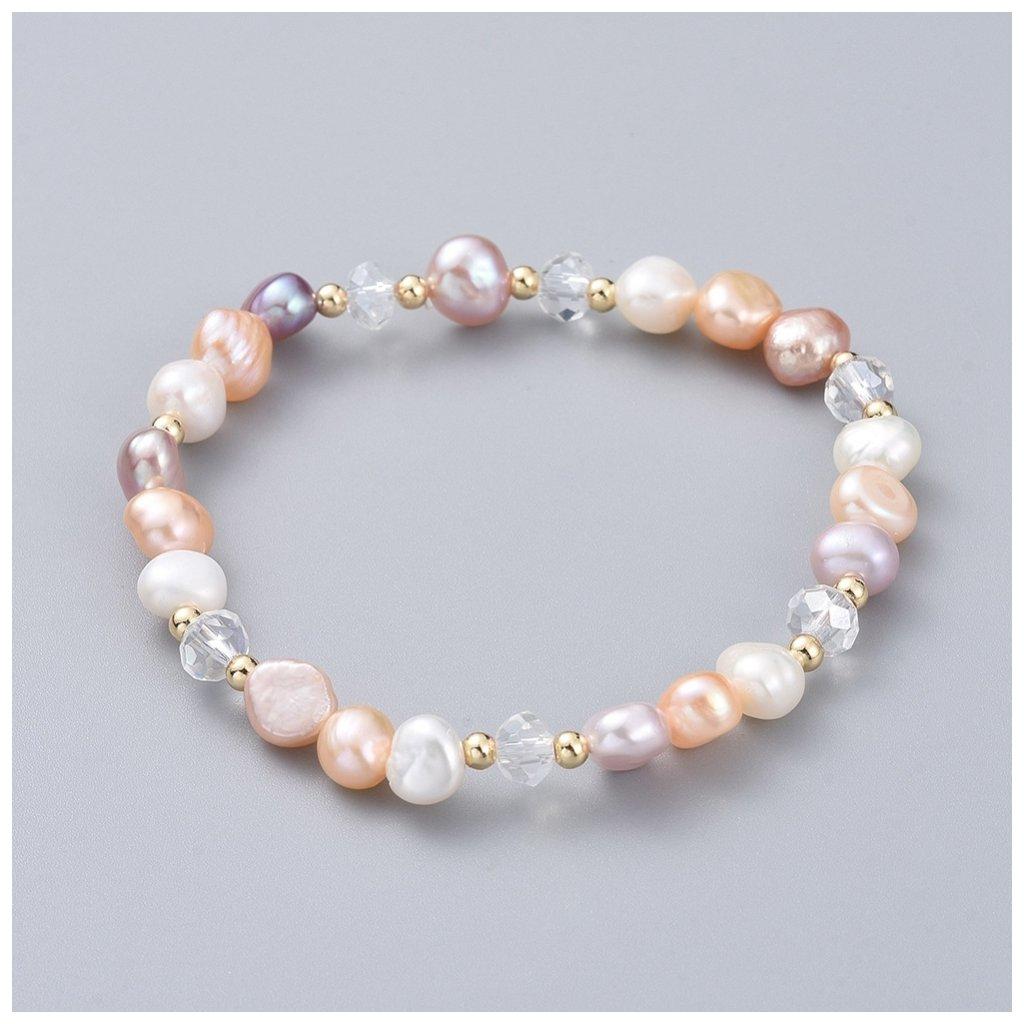 Dámsky farebný perlový náramok 1