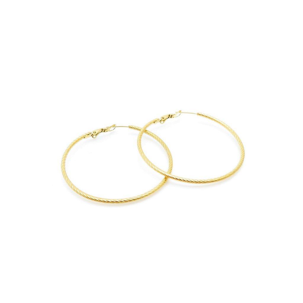 Náušnice pozlátené kruhy 50 mm