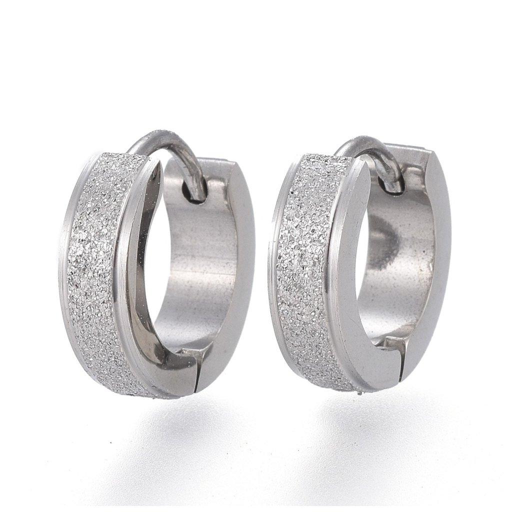 Náušnice z chirurgickej ocele kruhy pieskované 13 mm