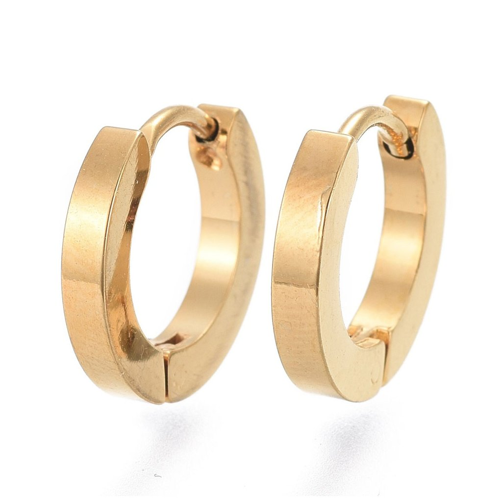 Náušnice kruhy zlatej farby 13 mm