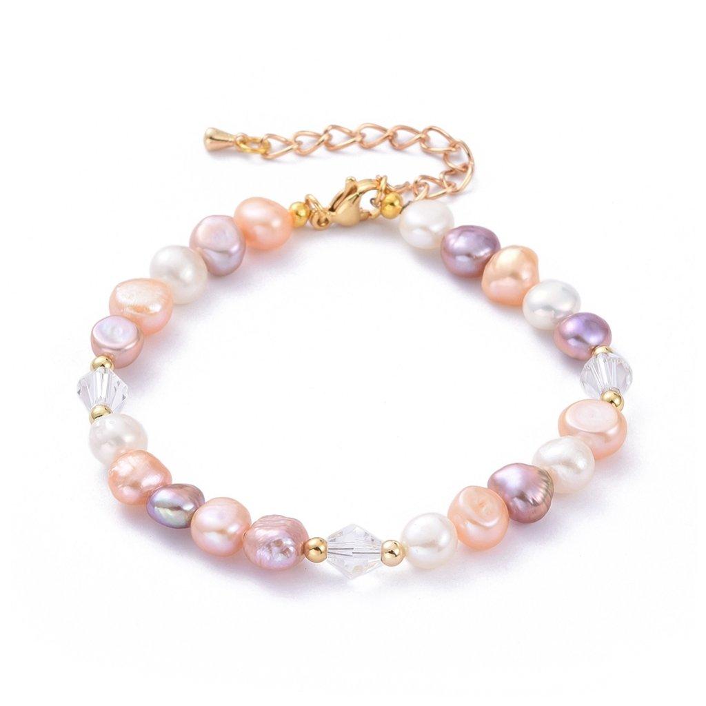 Dámsky náramok farebné perličky