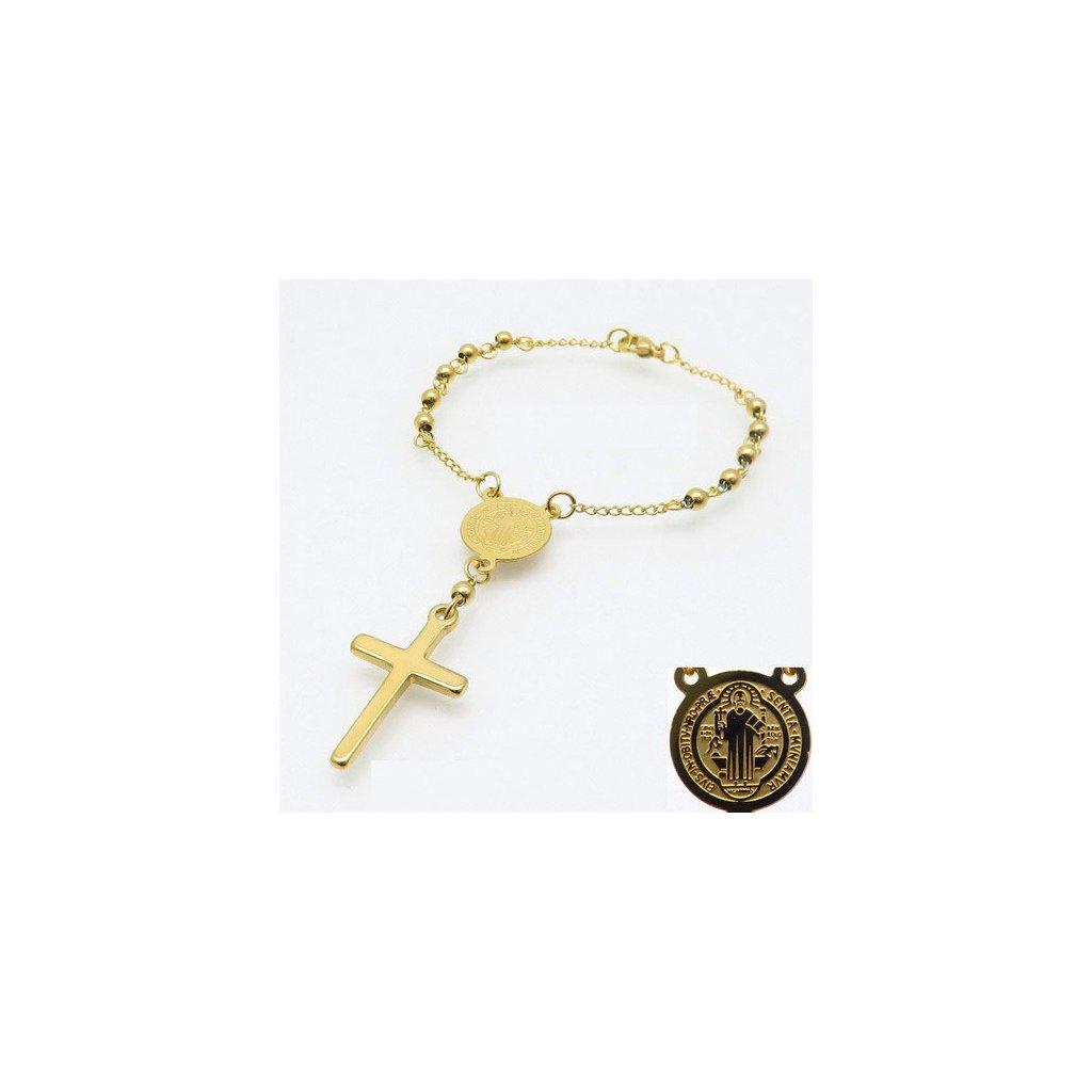 Ružencový náramok s krížikom