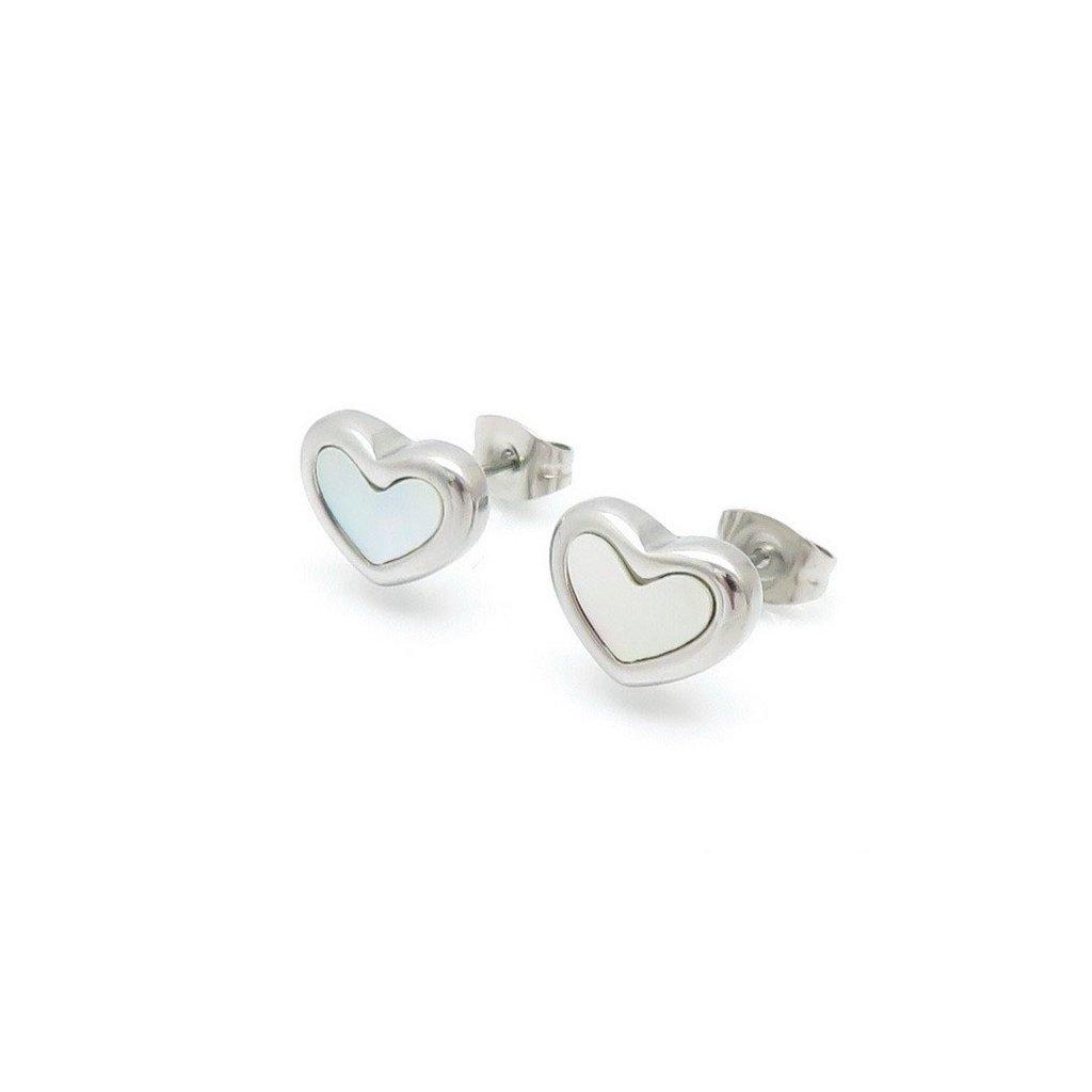 Náušnice z chirurgickej ocele v tvare srdca