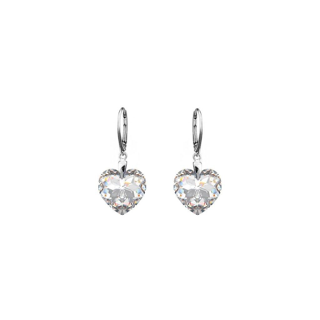 84241e55a Strieborné náušnice so Swarovski crystals 6215 - mŠperk.sk